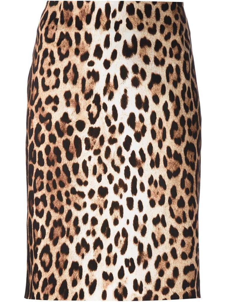 Moschino Cheap & Chic Leopard-Print Pencil Skirt
