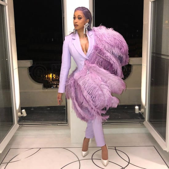 Cardi B Lavender Hair at Paris Fashion Week 2018
