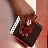 Laverne Cox's Forevermark ring was just as eye-catching as the rest of her sparkling ensemble. She finished her look with a Judith Leiber clutch.