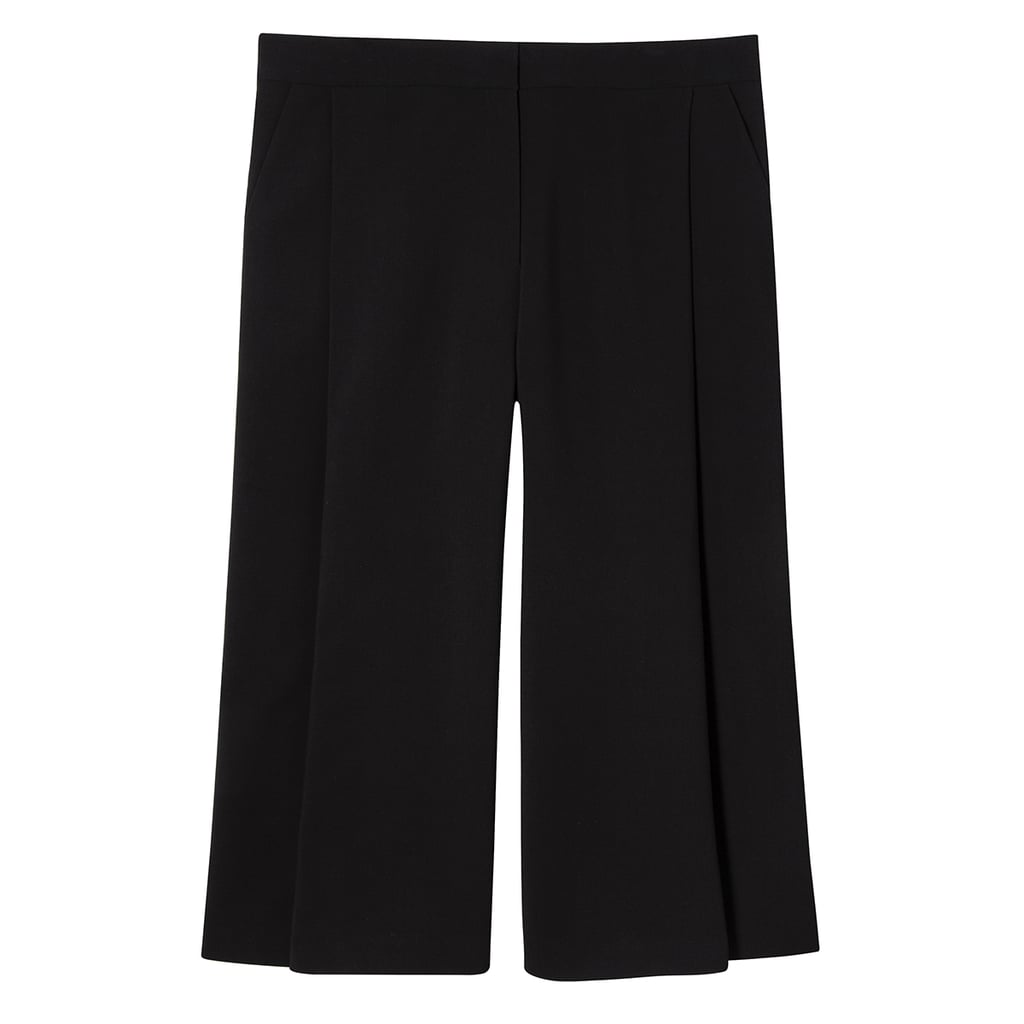 Women's Plus Black Pleated Culotte  ($40)