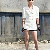 In Paris, Kristen Stewart was among the star-packed audience at the Chanel Haute Couture runway show.
