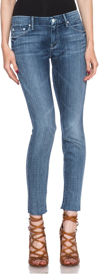 Mother The Looker Ankle Fray Jean ($220)