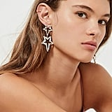 ZHUU Crystal Star Statement Earring