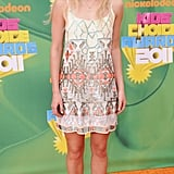 AnnaSophia Robb wore a tribal-inspired minidress to the 2011 awards.