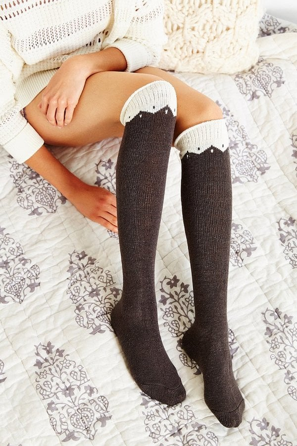 Urban Outfitters Colorblock Zigzag Knee High Sock ($14)