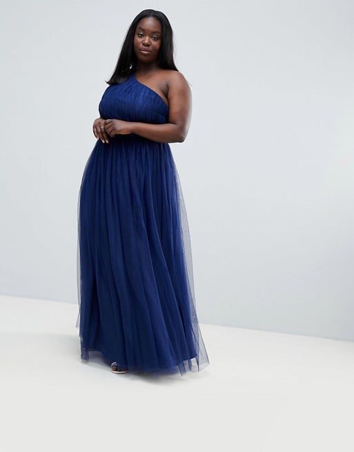 bd07ed77e0fe5 ASOS Design Curve Premium Tulle One Shoulder Maxi Dress