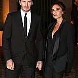 David Beckham held hands with Victoria Beckham before the event.