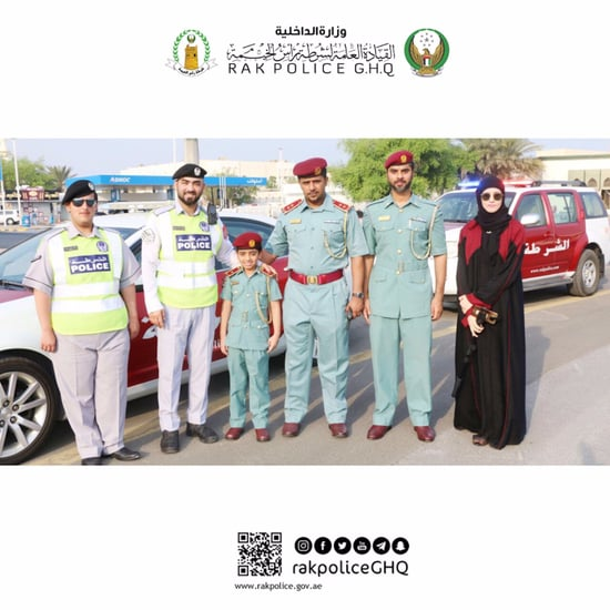 Police in RAK Let Boy be Policeman For a Day