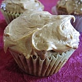 Brown Sugar-Pecan Cupcakes With Caramel Frosting
