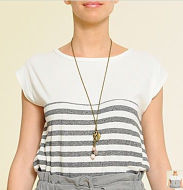 MNG by Mango Stripe Tee ($20)