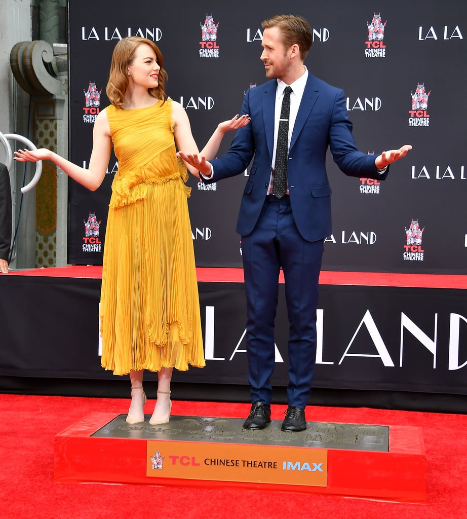 Ryan Gosling and Emma Stone at Handprint Ceremony