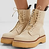 R13 Suede Platform Ankle Boots