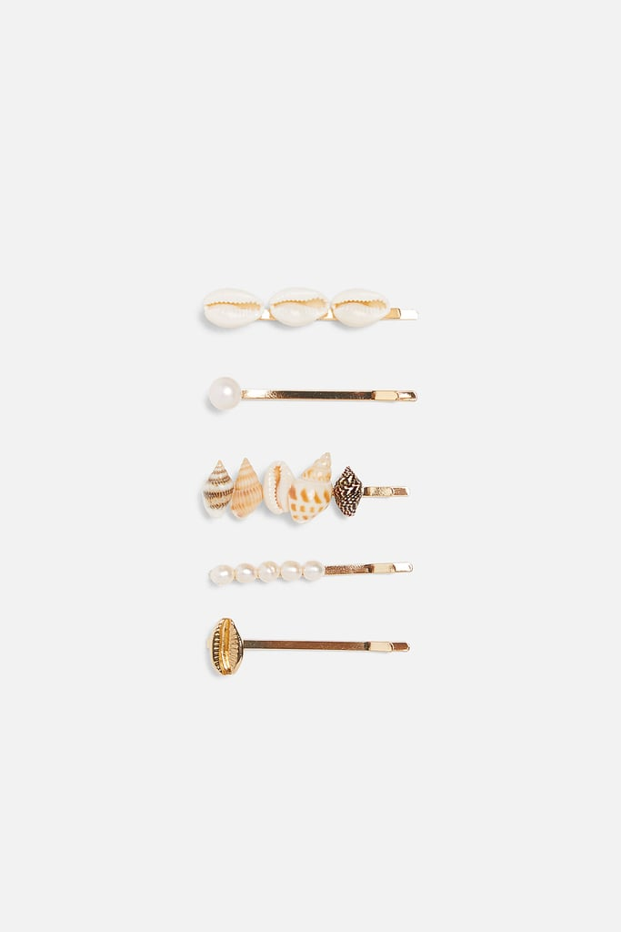 Zara Pack of Shell and Pearl Pins