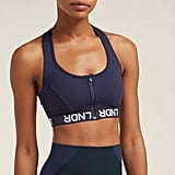 994de59f2 ... Front Zip High Impact Bra LNDR Hype Logo Sports Bra ...