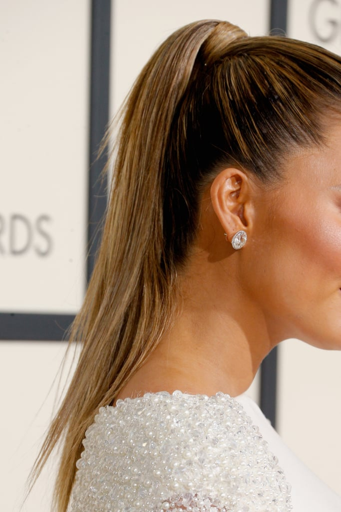 Chrissy Teigen's Regal Cape Dress Will Sweep You Right Off Your Feet