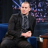 Channing Tatum appeared on Late Night With Jimmy Fallon Thursday night in NYC.