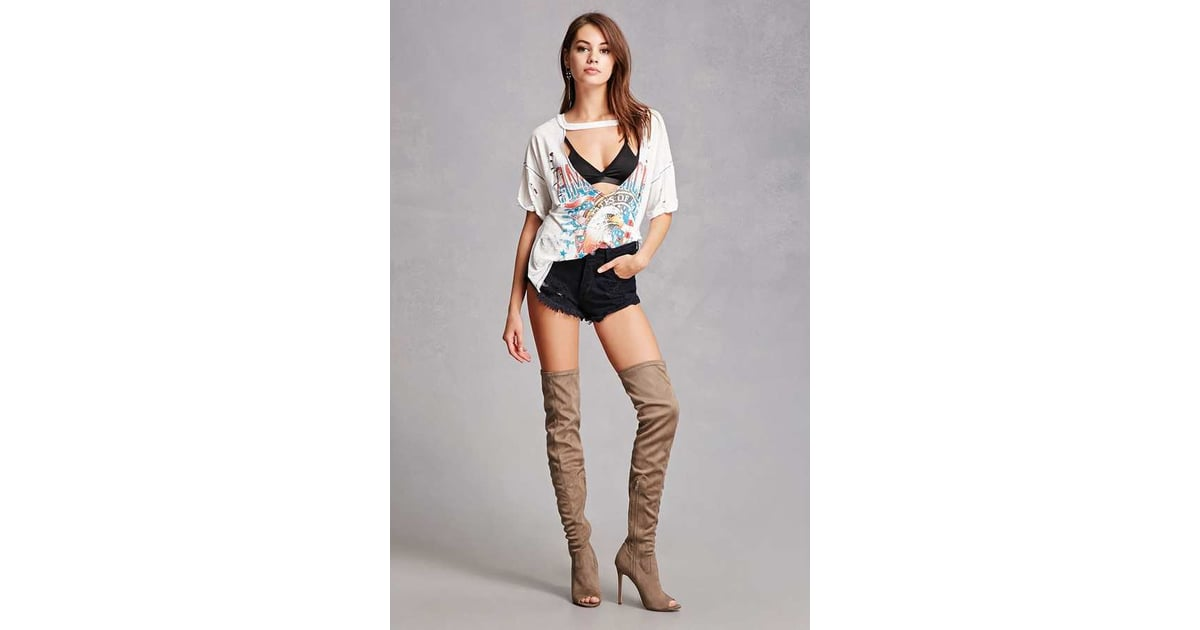 c95ce5a697a Forever 21 Faux Suede Over-the-Knee Boots