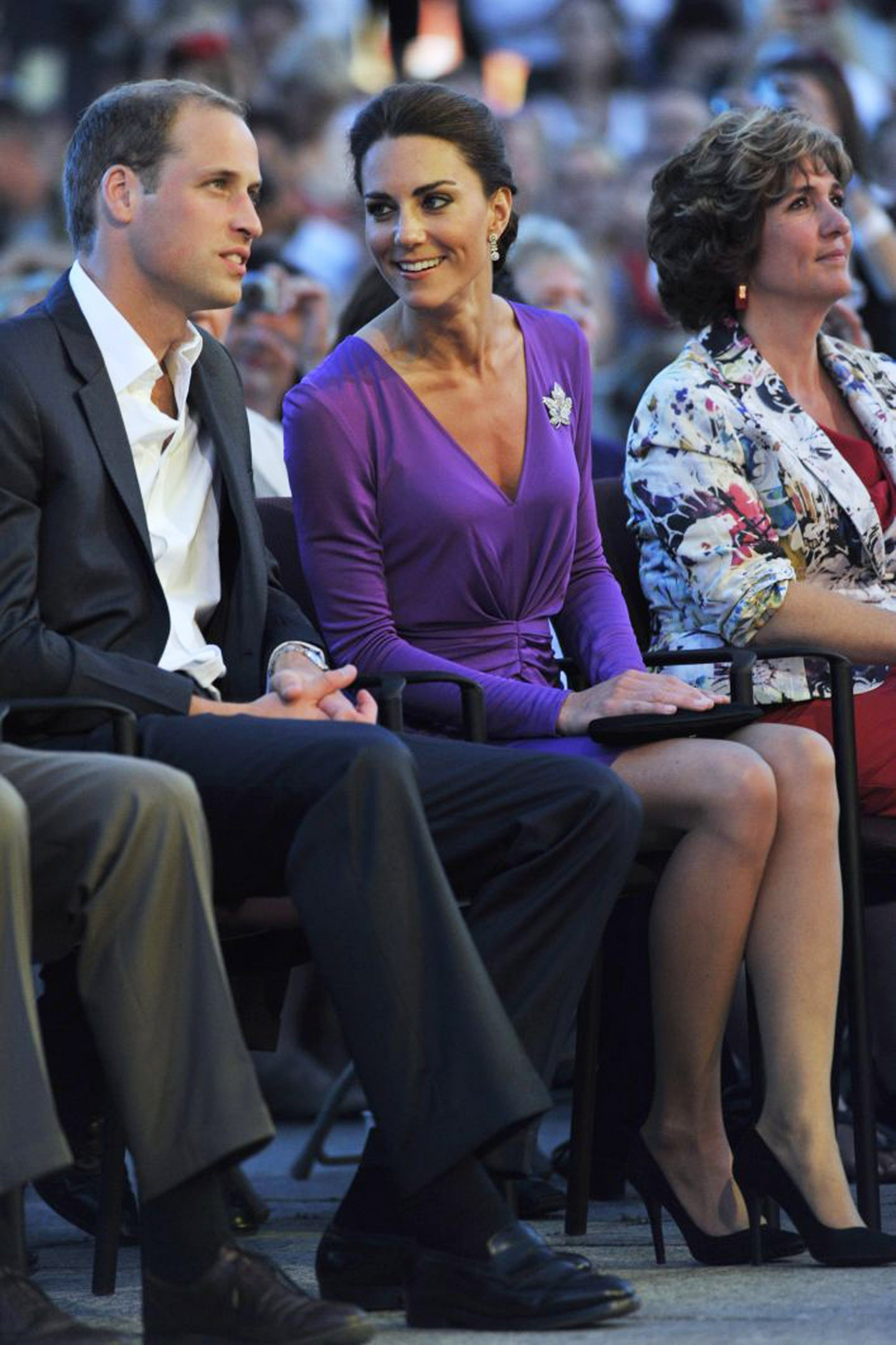 Pictures of Kate Middleton in Purple Issa Dress With Prince William in ... 357dce7ff
