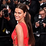 Irina Shayk Red Versace Dress Cannes 2018