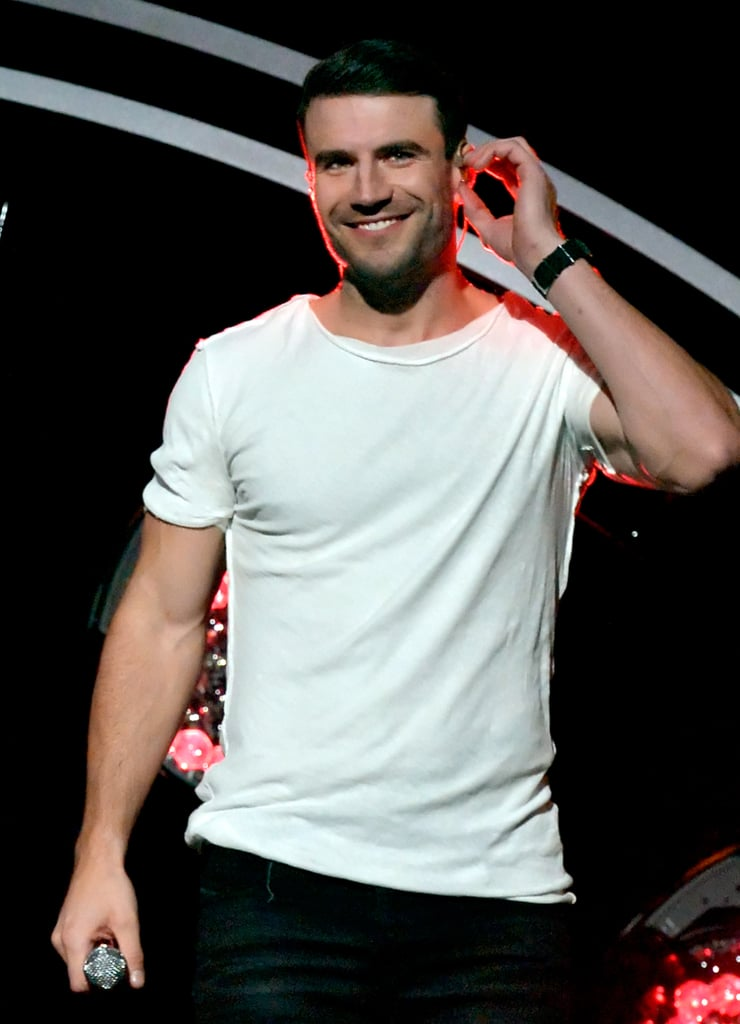 """Sam Hunt attended the Grammy Awards on Monday evening, looking like a vision of hotness. The country heartthrob hit the red carpet solo, but was joined by the gorgeous Carrie Underwood once he made his way inside the Staples Center. Inside, Sam heated up the stage when he and Carrie performed Sam's song """"Take Your Time"""" and their duet, """"Heartbeat."""" Unfortunately, Sam did not win any awards, but he did manage to destroy hearts everywhere with his devastatingly good looks and killer vocals. Read on to see more of Sam's night, and then check out all the winners from the night."""