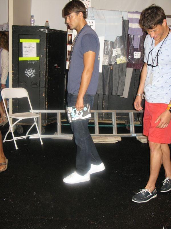 Backstage at Perry Ellis