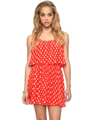 Try this fresh take on polka dots to jazz up your weekend wardrobe.  Forever 21 Pleated Polka-Dot Dress ($25)