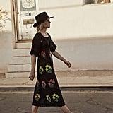R.Vivimos Floral Embroidery Midi Dresses