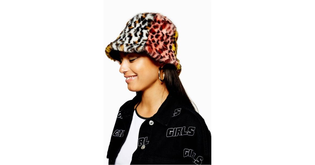 9970d3b49bd Topshop Mixed Animal Print Faux Fur Bucket Hat
