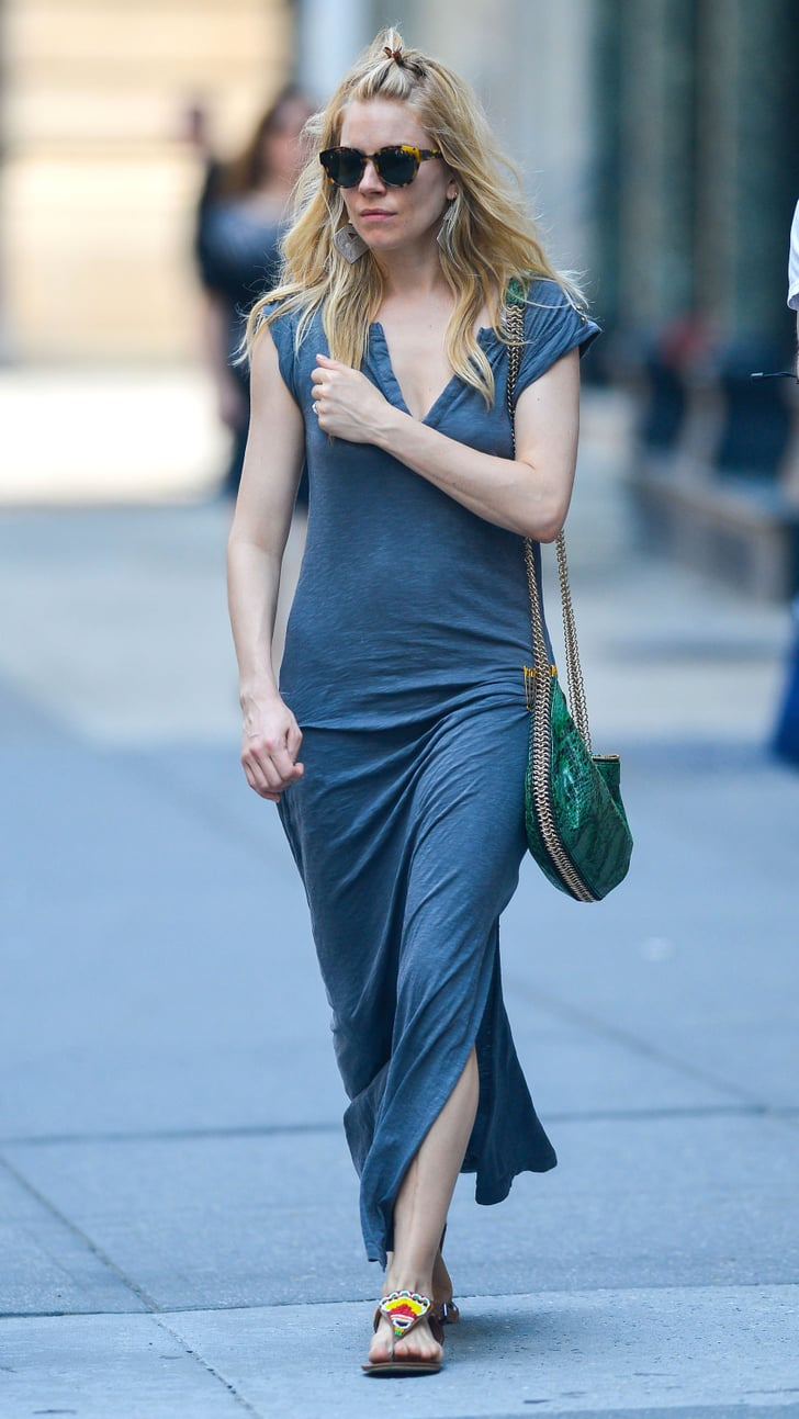 S And B Filters >> Sienna Miller wore a maxi dress for a Summer day in NYC. | Sienna Miller and Marlowe Sturridge ...