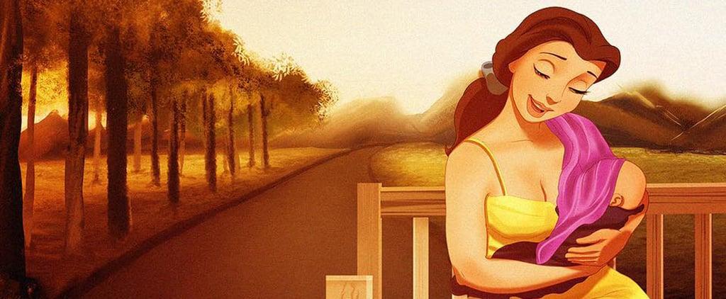 شاهدوا صور أميرات ديزني وهن أمّهات