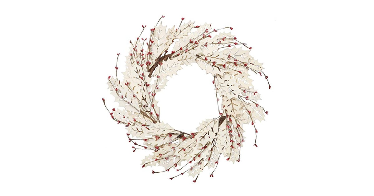 VGIA 18 Inch Christmas Wreath Winter Wreath With Wooden ...