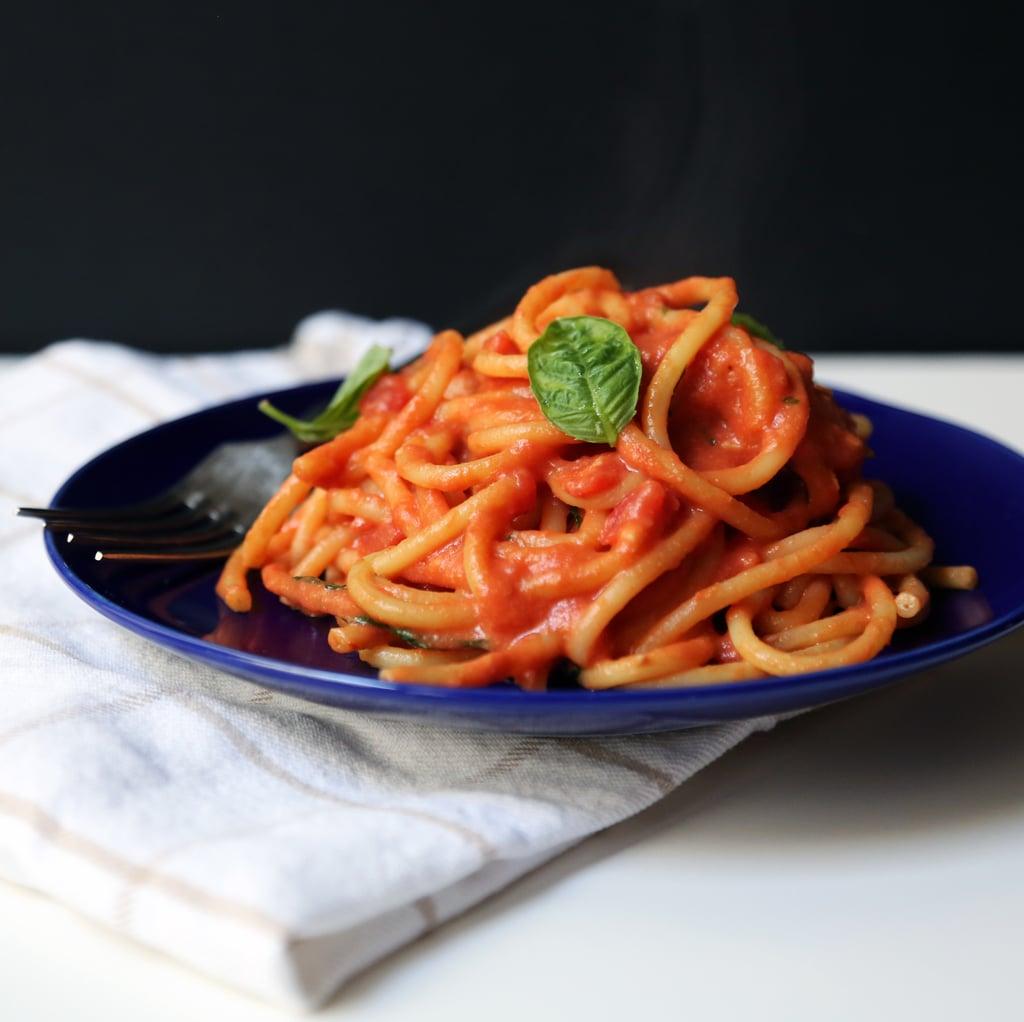 Pasta With Vegan Pink Sauce