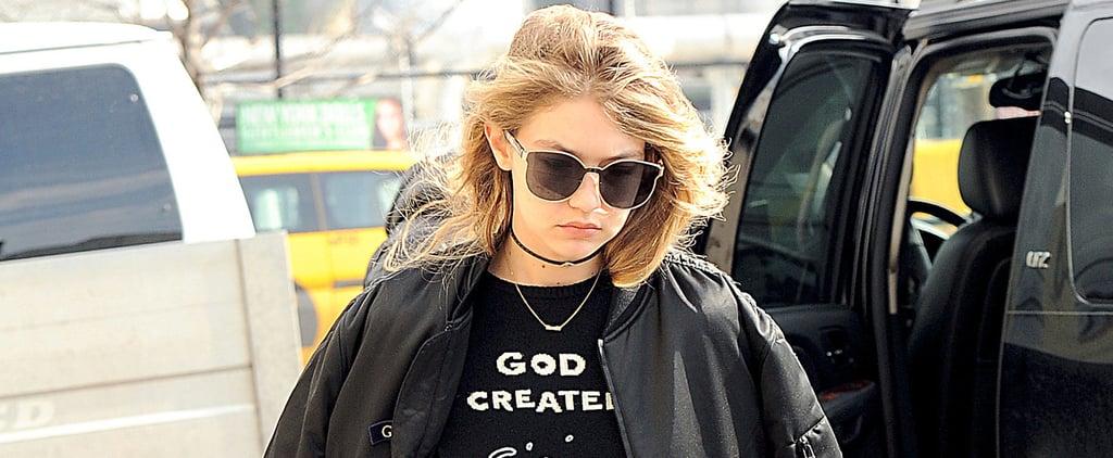 Gigi Hadid Wearing Gigi Sweatshirt