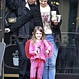 Katie Holmes and Suri Cruise had a smiley day in Pittsburg.