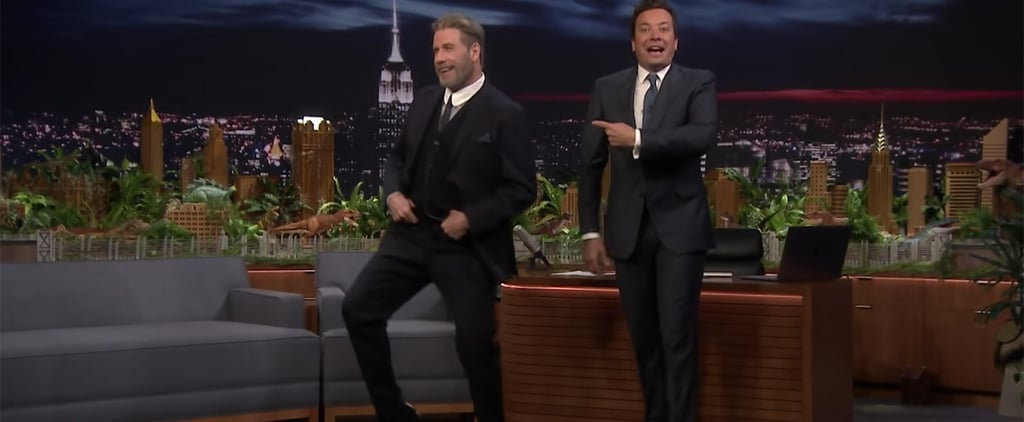 John Travolta Teaching Jimmy Fallon His Grease Dance Moves