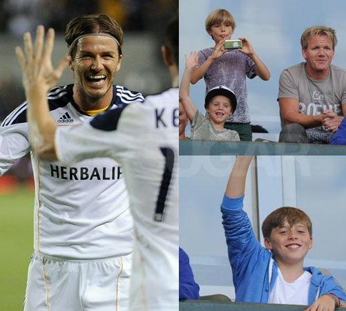 David Beckham's Adorable Cheering Section Gets a Boost From Gordon Ramsay and His Kids