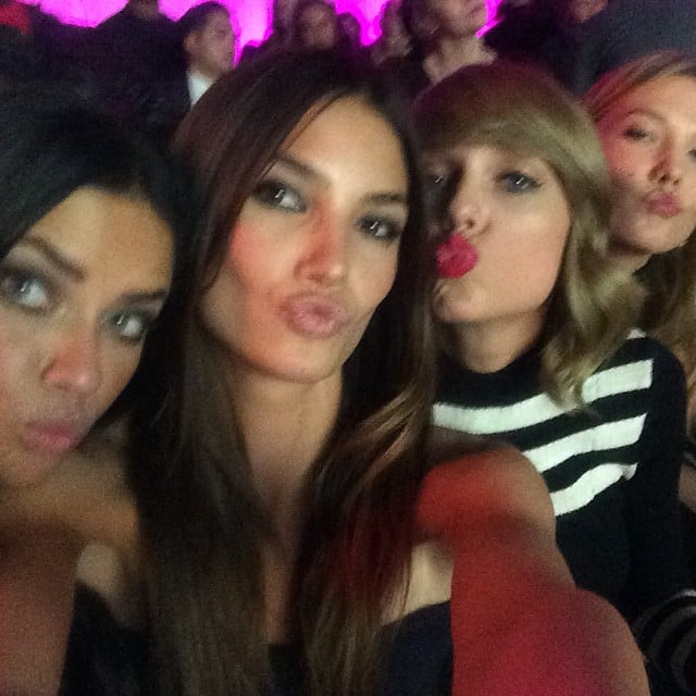 Adriana Lima Lily Aldridge Taylor Swift And Karlie Kloss Puckered