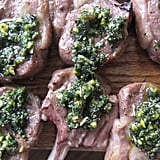 Lamb Lollipops With Mint-Pistachio Pesto