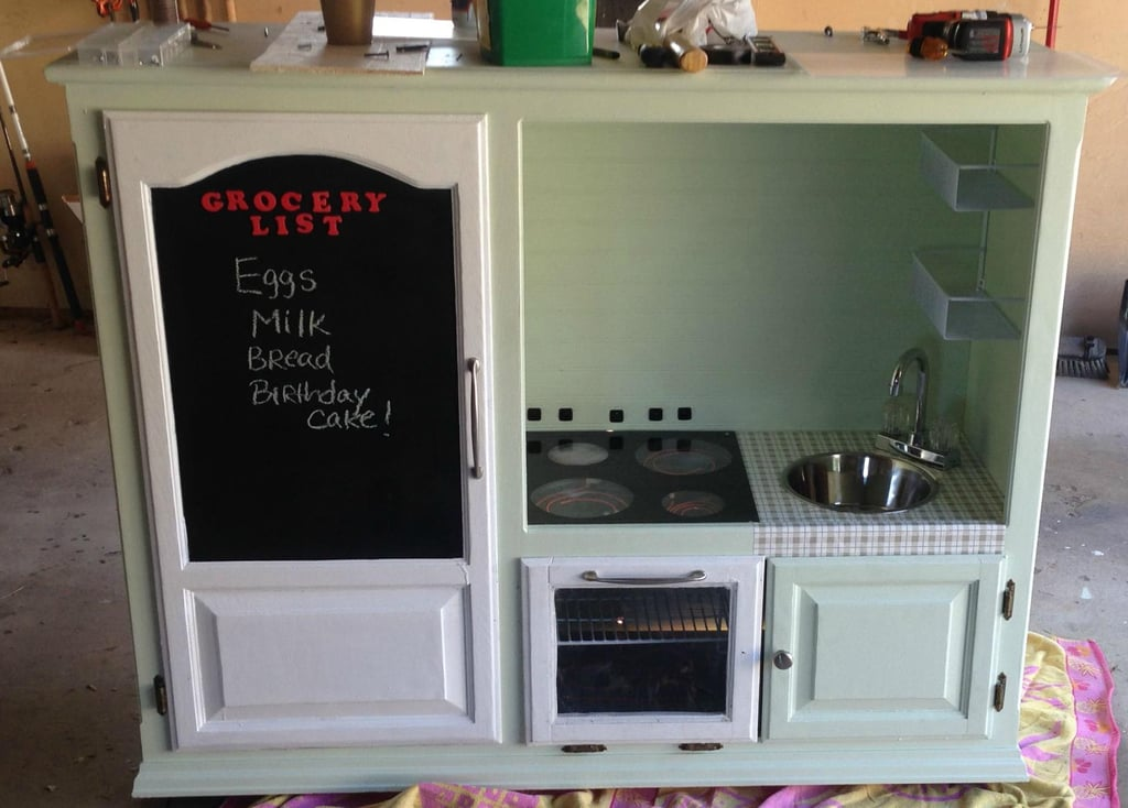 How These Parents Turned a $20 Goodwill Find Into a Tricked-Out Kitchen Playset