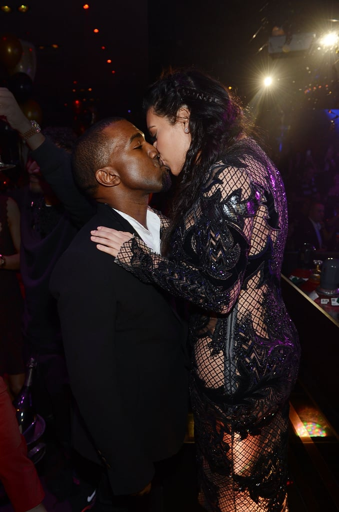 The duo rang in the 2013 New Year in Las Vegas after announcing Kim's pregnancy.