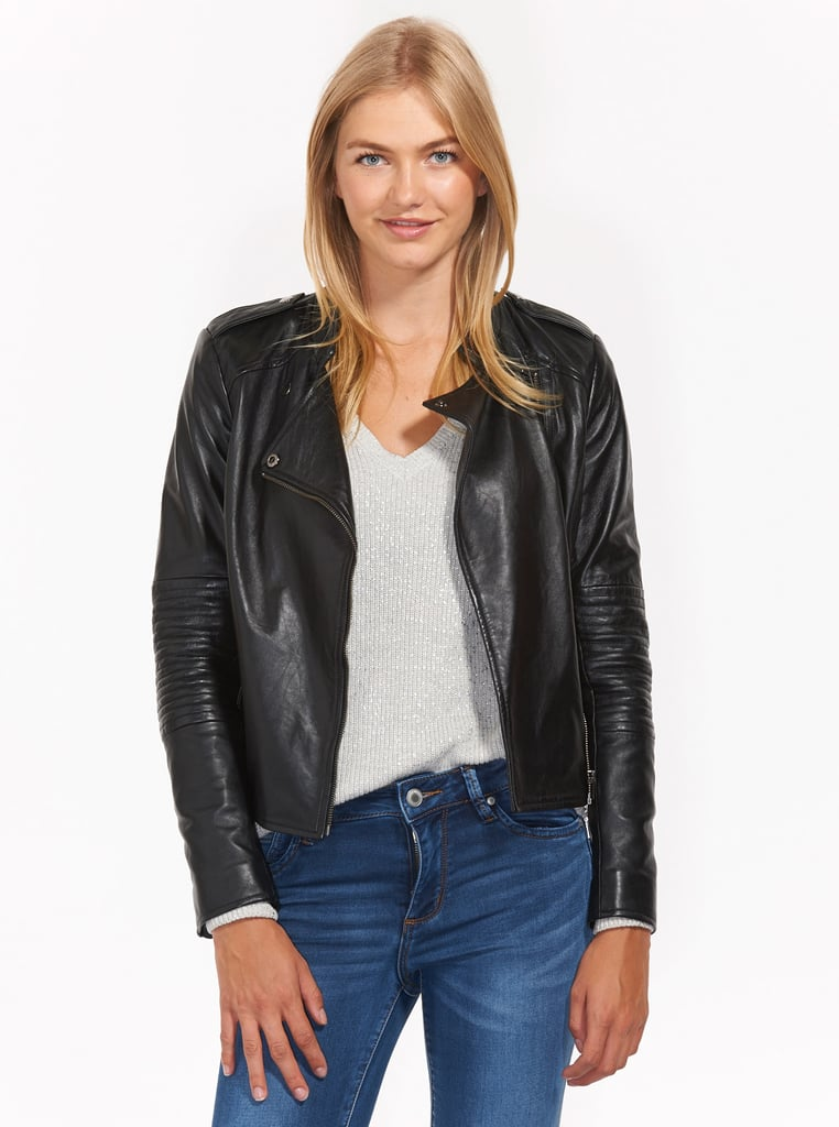 Overstock uses cookies to ensure you get the best experience on our site. If you continue on our site, you consent to the use of such cookies. Learn more. OK Jackets. Clothing & Shoes / Women Mason & Cooper Women's Skyler Black Navy Lambskin Leather Fully Lined Moto Jacket.