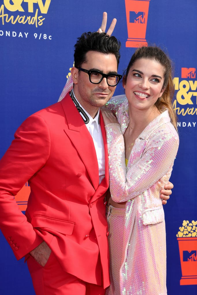 Daniel Levy and Annie Murphy at the 2019 MTV Movie and TV Awards