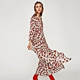 Zara Long Dress With Floral Print