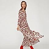 Zara Long Dress With Floral Print