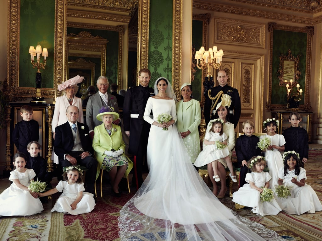 Prince Harry and Meghan Markle tied the knot on May 19, 2018, and we're still obsessing over every detail of their royal wedding. Some of the most heartwarming snapshots from the big event are their official portraits. Just a few days after they said their vows, Kensington Palace shared three official photographs of the couple from their wedding, which were taken by Alexi Lubomirski at Windsor Castle, following the carriage procession. Aside from taking a group photo with the royal family and Meghan's mother, Doria Ragland, there is also an adorable snapshot of Harry and Meghan with their bridesmaids and pageboys.  Of course, it's the last shot — a black-and-white photo of the couple laughing on the stairs — that's one of our favorites. Not only do they look so in love, but it's also incredibly reminiscent of their equally gorgeous engagement photos. In honor of their anniversary, look back at their wedding portraits ahead.       Related:                                                                                                           13 Fun Facts About Harry and Meghan's Wedding That Will Make You Feel Like You Were There