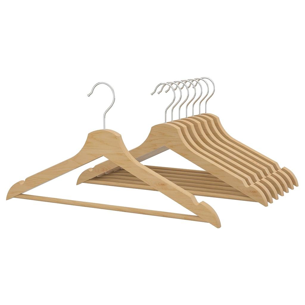 Bedroom Ikea Bumerang Wood Hangers Best Organization