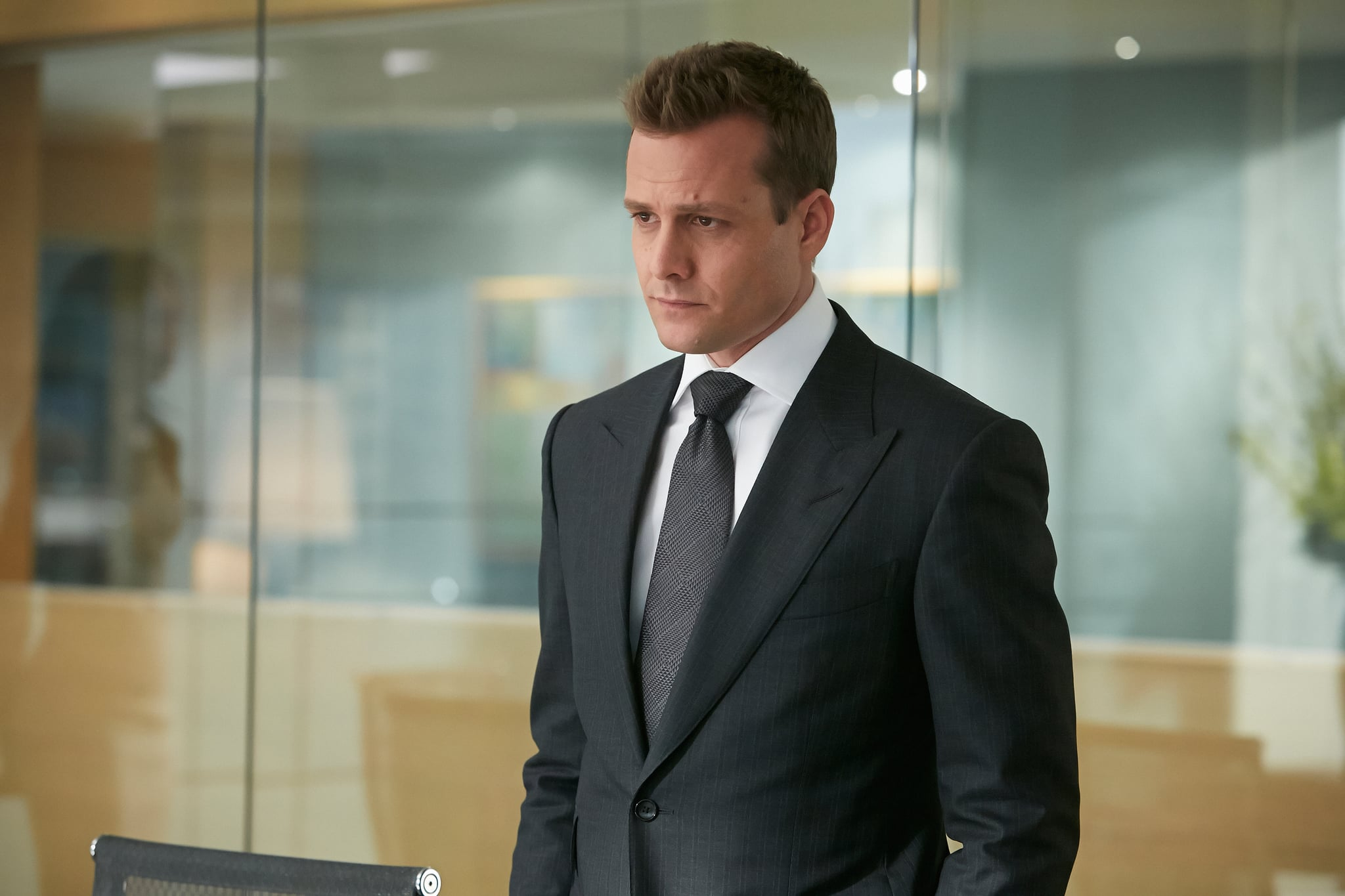 SUITS, Gabriel Macht in 'One-Two-Three-Go' (Season 4, Episode 1, aired June 11, 2014). ph: Ian Watson/USA Network/courtesy Everett Collection