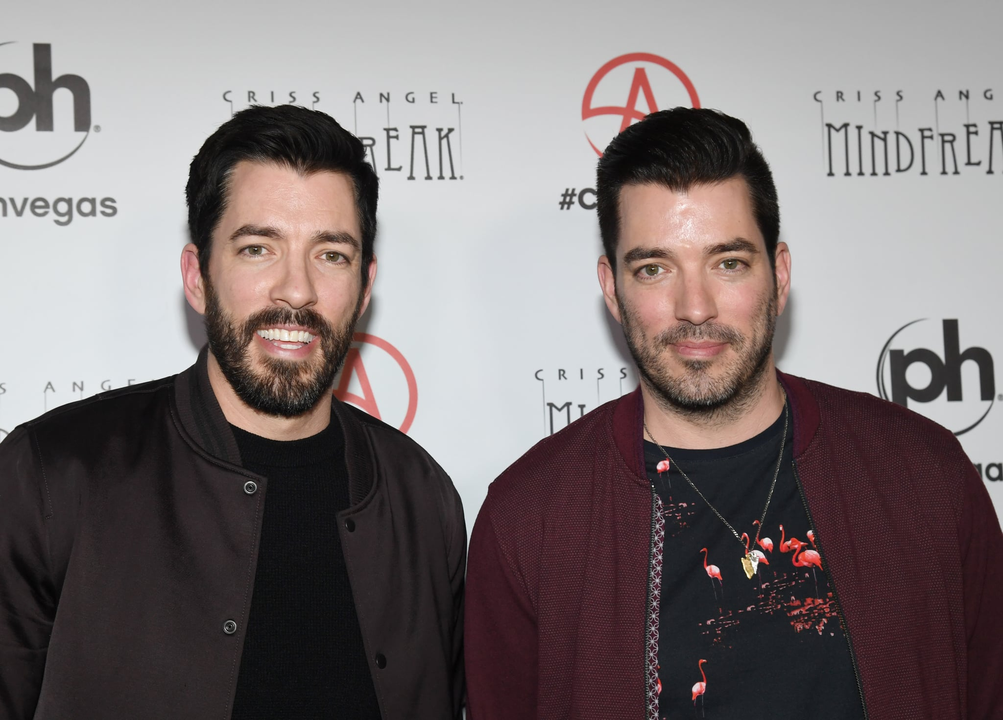 LAS VEGAS, NEVADA - JANUARY 19:  Television personalities Drew Scott (L) and Jonathan Scott attend the grand opening of