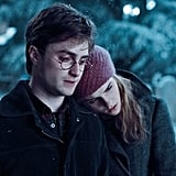 When Hermione put her head on Harry's shoulder in Godric's Hollow.