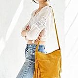 Ecote Suede Fringe Bucket Bag ($89)